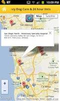 Screenshot of San Diego CA Dog Emergency Kit