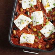 Haddock Baked With Tomato & Olives