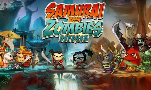 samurai-vs-zombies-defense for android screenshot