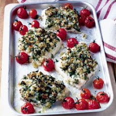 Herb-crusted Haddock