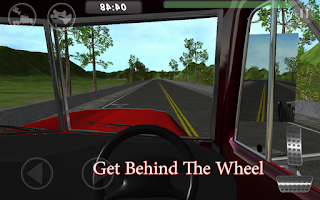 Screenshot of Big Red Truck: 3D Driving Sim