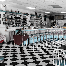 Monticello Owns Soda Shop  by Greg Sommer - City,  Street & Park  Markets & Shops