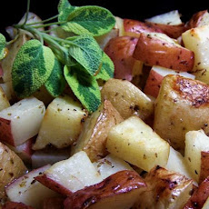 Paros Island Patates Riganates (Potatoes W/ Fresh Oregano)