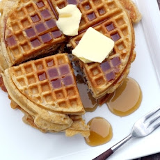 Brown Butter-Pumpkin Pie Spiced Belgian Waffles
