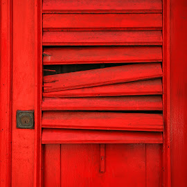Red Shutter by Timothy Johnson - Buildings & Architecture Architectural Detail ( puerto rico, red, shutter, architecture )
