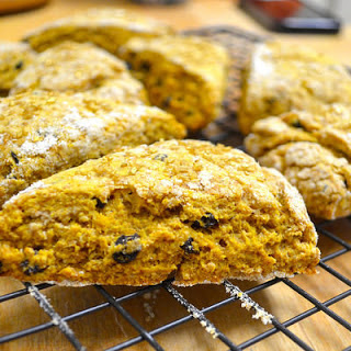 Vegan Pumpkin + Currant Scones
