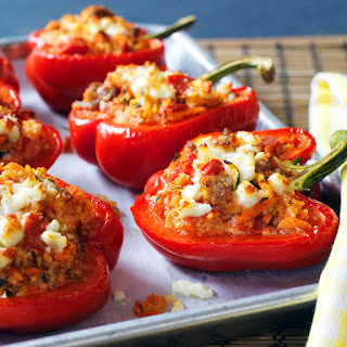 Sausage and Couscous Stuffed Peppers