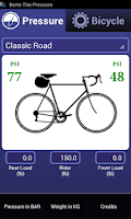 Screenshot of Bicycle Tire Pressure Demo