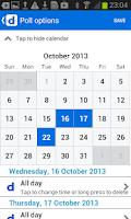 Screenshot of Doodle: easy scheduling
