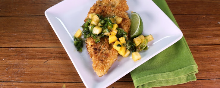 Macadamia Crusted Chicken with Mango-Citrus Salsa Recept | Yummly