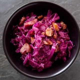 Braised Red Cabbage with Chestnuts