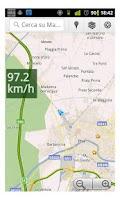 Screenshot of Speedometer for navigator