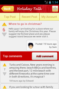 Holiday Talk - screenshot