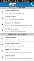 Screenshot of Peak Seats Ticket App Concerts