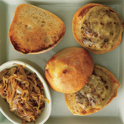 Bacon-Bit Burgers with Smoked Gouda and Steak House-Smothered Onions