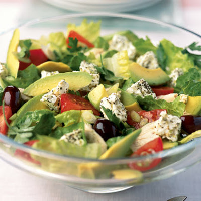 Greek Island Salad With Chicken & Avocado