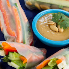 Summer Veggie Rolls with Spicy Peanut Lime Sauce