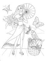 Screenshot of Hay Princess Day Coloring