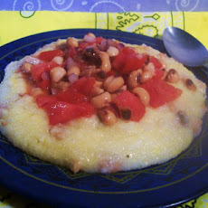 Cajun Style Grits With Black-Eyed Peas Salsa