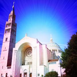 Catholic University, Washington, D.C. by Tyrell Heaton - Digital Art Places ( washington d.c., catholic university, iphone )