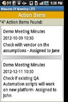 Screenshot of Minutes Of Meeting