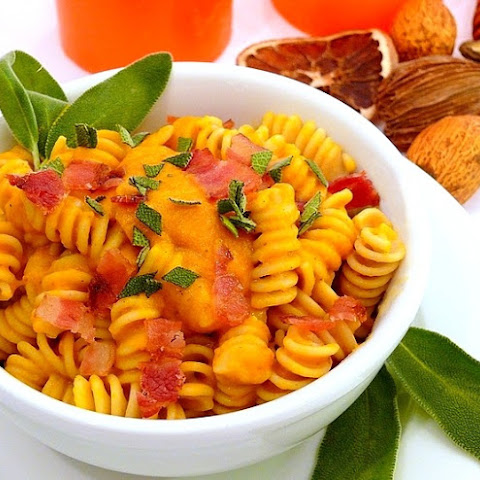 Pasta with Creamy Butternut and Bacon
