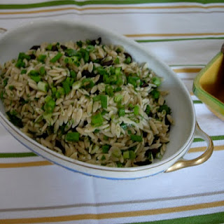 Scallion and Olive Orzo