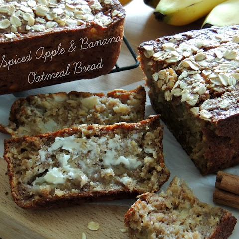 Spiced Apple & Banana Oatmeal Bread