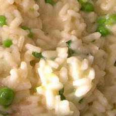 Microwave Risotto With Peas and Parmigiano-Reggiano Cheese