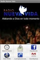 Screenshot of Radio Nueva Vida