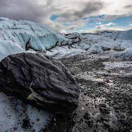 Alaskan Glacier by Mark Richardson - Landscapes Caves & Formations ( glacier, anchorage, ice, alaska, silt, rock )