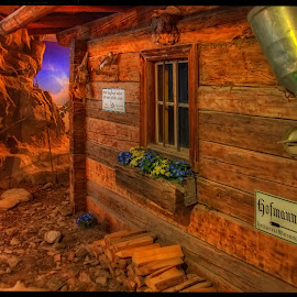 museum scenery by Petr Klingr - Buildings & Architecture Public & Historical ( hdr     alps     mountains     clouds     sun, museum )