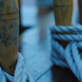 Sailing Knots by Andrew Kamberg - Abstract Macro ( rope, ship, sail, knots, boat, close up, sail boat )
