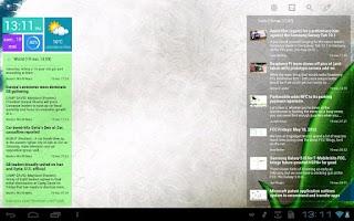 Screenshot of Scrollable News Widget