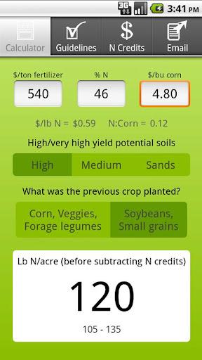 Corn N Rate Calculator