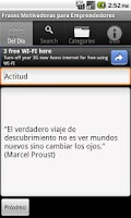 Screenshot of Frases Motivadoras para Empren