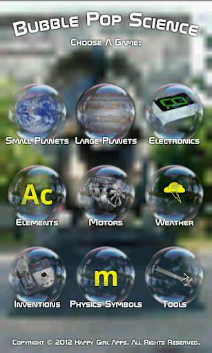 Bubble Pop Science Kids Game