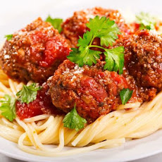 Spaghetti with Homemade Meatballs