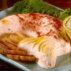 Smoked or Poached Salmon Mousse with Dill Sauce