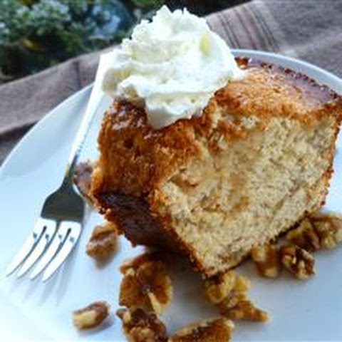 Maple Nut Angel Food Cake