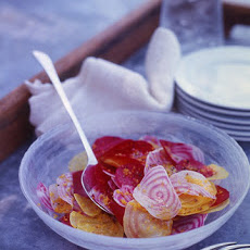 Raw Beets with Orange-Coriander Vinaigrette