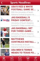 Screenshot of University of South Alabama