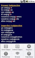 Screenshot of ProConjugate Spanish
