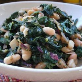 Sauteed Greens With Cannellini Beans And Pancetta