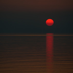 iSunset by Diana Garbacauskiene - Landscapes Sunsets & Sunrises ( baltic sea, sunset, sea, lithuania, landscape )
