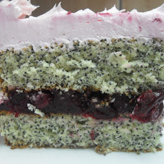 Poppy Seed Cake with Cherries