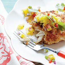 Crispy Crab Cakes with Mango-Pineapple Salsa