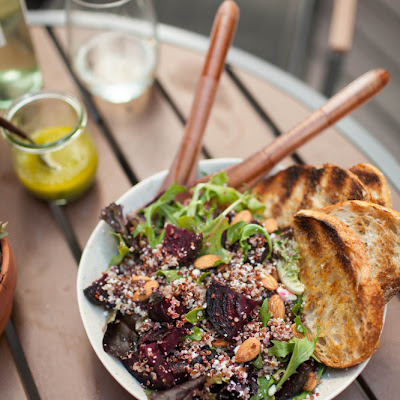 Grilled Beet, Quinoa, and Feta Salad (+ Summer Veg Grilling Inspirations)