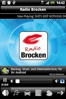 Screenshot of Radio Brocken