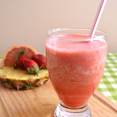 Grapefruit, Strawberry, and Pineapple Juice